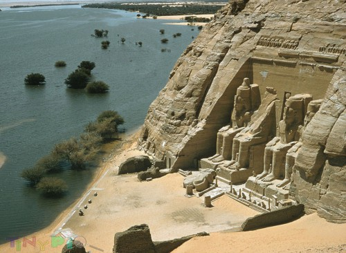 The Abu Simbel temples are two massive rock temples at Abu Simbel (أبو سمبل in Arabic), ... The statue of Ramses the Great at the Great Temple of Abu Simbel is reassembled after having been moved in 1967 to save it from flooding.